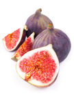 Fresh figs. Isolated on a white background Royalty Free Stock Photos