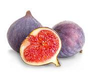 Fresh figs isolated on white Royalty Free Stock Images