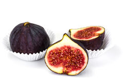 Fresh Figs Isolated on White Stock Images