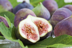 Fresh figs on leaves Royalty Free Stock Image