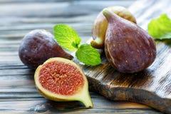 Sliced fresh figs. Stock Photos