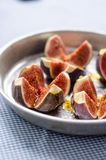 Fresh figs with olive oil Stock Photos