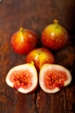 Fresh figs over old wood Royalty Free Stock Image