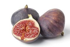 Fresh figs on plain background Royalty Free Stock Photography
