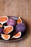 Fresh figs in a plate Stock Photos