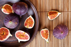 Fresh figs in a plate Royalty Free Stock Images