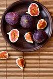 Fresh figs in a plate stock image