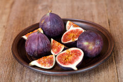 Fresh figs in a plate Royalty Free Stock Photo