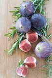 Fresh Figs and Rosemary Stock Photo