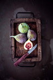 Fresh figs in a rustic kitchen Stock Images