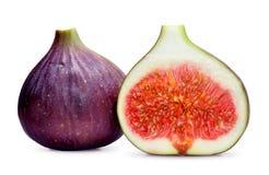 Fresh figs on white Royalty Free Stock Photo