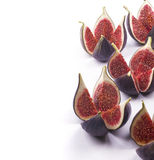 Fresh figs on white.  Stock Image