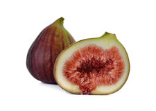Fresh figs on white Royalty Free Stock Images