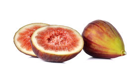 Fresh figs on white Royalty Free Stock Image