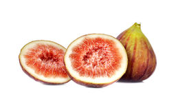 Fresh figs on white Stock Photos