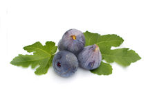 Fresh figs on white background Royalty Free Stock Photos