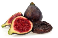 Fresh figs on a white background royalty free stock image
