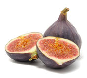 Fresh Figs on White Background Royalty Free Stock Photography