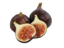 Fresh figs on white stock photo