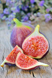 Fresh figs. On the wooden table Stock Image