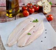 Fresh fillet of fish pangasius Stock Photography