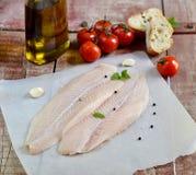 Fresh fillet of fish pangasius Royalty Free Stock Photo
