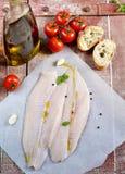 Fresh fillet of fish pangasius Stock Image