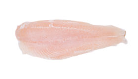 Fresh fillet of pangasius. Royalty Free Stock Photography