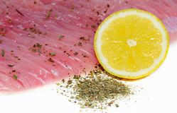 Fresh filleted fish Stock Photography