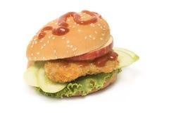 Fresh fish burger isolated Stock Photography