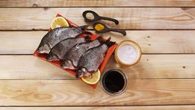 Fish carp. Fresh fish-carp for lunch royalty free stock images