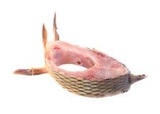 Fresh fish carp steak. Royalty Free Stock Photography