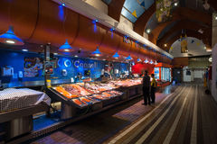 Fresh fish counter at the English market in Cork Cit Royalty Free Stock Photos
