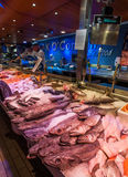 Fresh fish counter at the English market in Cork City Stock Photo