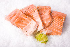 Fresh fish cut  pieces. Fresh fish cut into pieces Royalty Free Stock Images