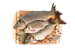 Fresh fish on the cutting board Royalty Free Stock Photo