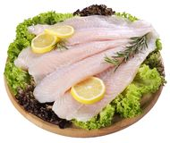 Fresh Fish Fillet and vegetables Royalty Free Stock Photo