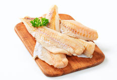 Fresh fish fillets Royalty Free Stock Photos