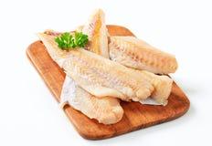 Fresh fish fillets. Studio shot of fresh fish fillets Royalty Free Stock Photos