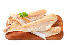 Fresh fish fillets. On cutting board Royalty Free Stock Image