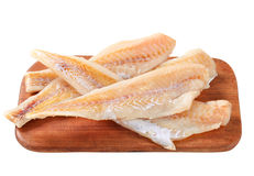 Fresh fish fillets. On cutting board Stock Photos