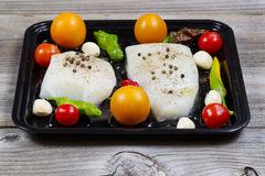 Fresh Fish Fillets ready to cook stock images