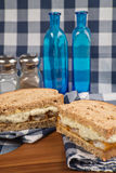 Fresh fish finger sandwich on wholegrain in rustic kitchen setti Stock Photos