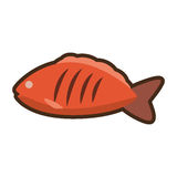 Fresh fish food icon design. Vector illustration eps 10 Royalty Free Stock Image