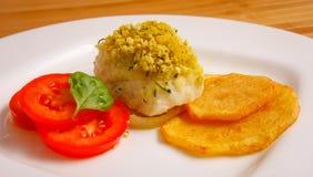Fresh Fish Gourmet Dinner - Stock Image Stock Image
