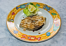 Fresh fish grill cooked Stock Photo