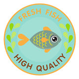 Fresh fish logo Stock Photo