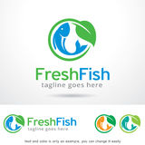 Fresh Fish Logo Template Design Vector, Emblem, Design Concept, Creative Symbol, Icon. This design suitable for logo, symbol, emblem or icon Royalty Free Stock Photography