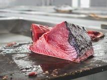 Fresh fish at the fish market. Close-up royalty free stock image