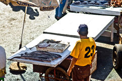 Fresh fish market on Essaouira in Morocco Stock Photos